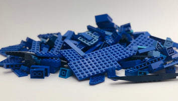 LEGO™ 500g mixed bag of BLUE parts, bricks