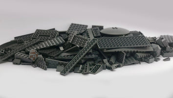 LEGO™ 500g mixed bag of DARK GREY parts, bricks and more!
