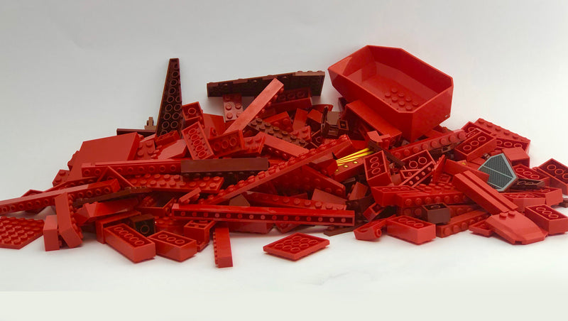LEGO™ 500g mixed bag of RED parts - BrickResales
