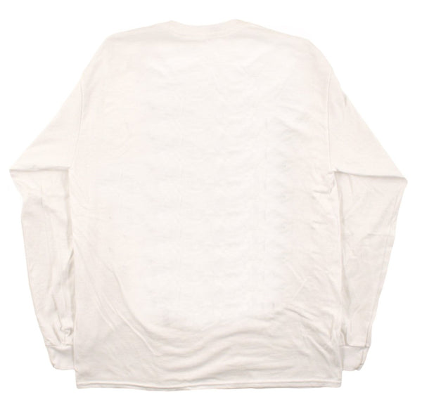 The 'Ciera' Peach Tee in White Long Sleeve