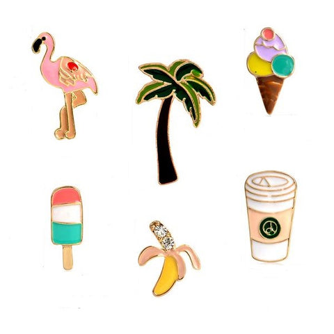 Tropical Pin Set - Tumblr Pins and Patches - Peachy Pins