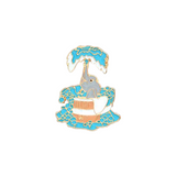 Bathing Elephant Pin - Tumblr Pins and Patches - Peachy Pins