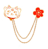 Lucky Cat Pin Hanger - Tumblr Pins and Patches - Peachy Pins