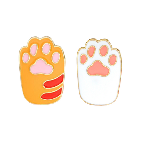 Cat Paws Pin Set - Tumblr Pins and Patches - Peachy Pins