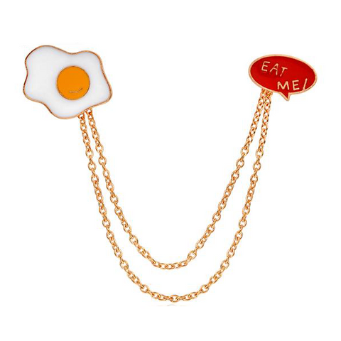 Eat Me Egg Pin Hanger - Tumblr Pins and Patches - Peachy Pins