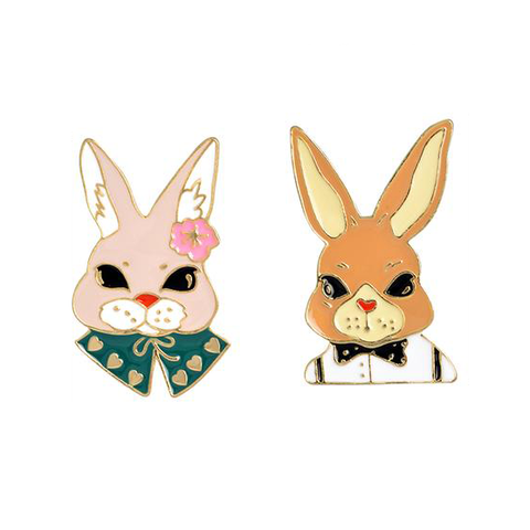 Evil Rabbits Pin Set - Tumblr Pins and Patches - Peachy Pins