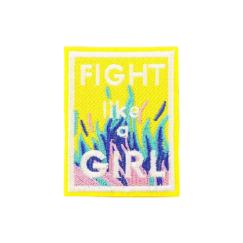 Fight Like A Girl Patch - Tumblr Pins and Patches - Peachy Pins