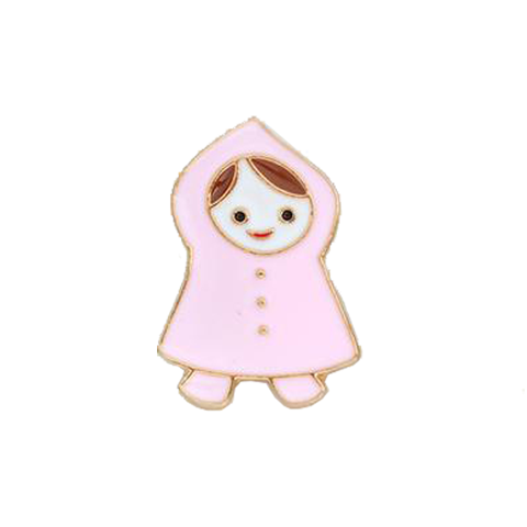 Little Girl Pin - Tumblr Pins and Patches - Peachy Pins