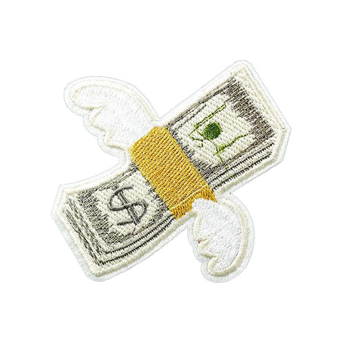 Flying Money Patch - Tumblr Pins and Patches - Peachy Pins