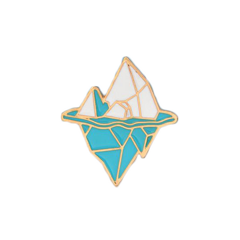 Ice Berg Pin - Tumblr Pins and Patches - Peachy Pins