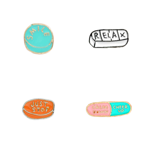 Medicine Pills Pin Set - Tumblr Pins and Patches - Peachy Pins