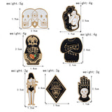 Double Skull Pin - Tumblr Pins and Patches - Peachy Pins