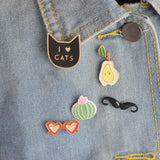 Happy Cat Pin Set - Tumblr Pins and Patches - Peachy Pins