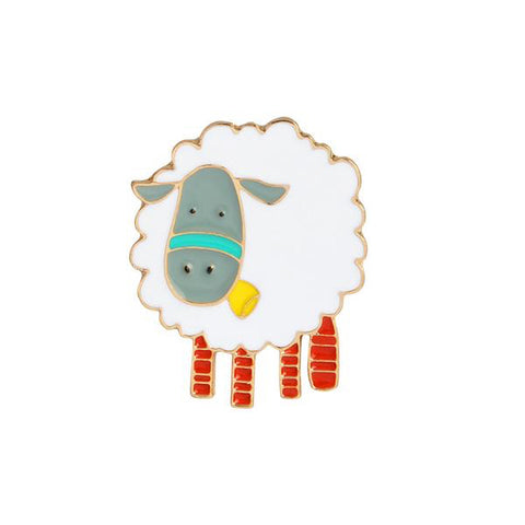 Lizzy The Sheep Pin - Tumblr Pins and Patches - Peachy Pins