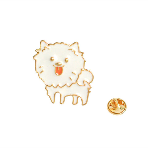 Pomeranian Dog Pin - Tumblr Pins and Patches - Peachy Pins