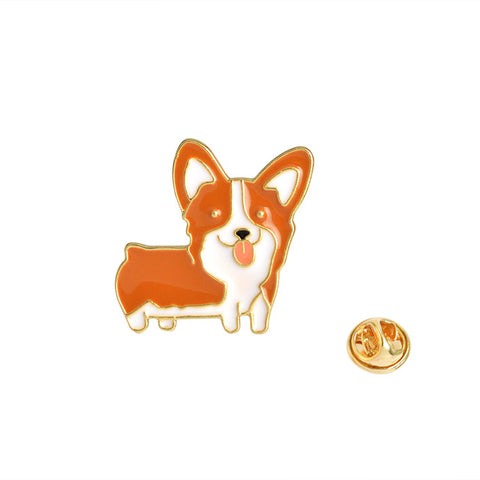 Corgi Dog Pin - Tumblr Pins and Patches - Peachy Pins