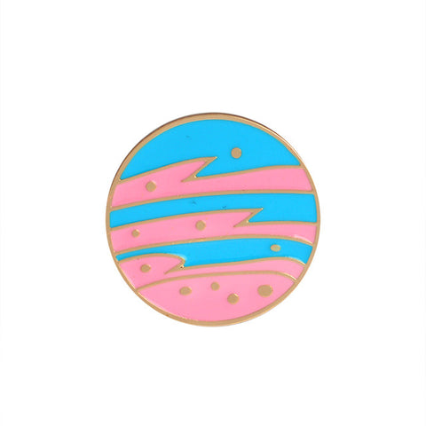 Cute Planet Pin - Tumblr Pins and Patches - Peachy Pins