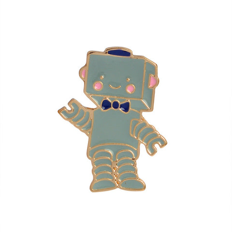 Little Robot Pin - Tumblr Pins and Patches - Peachy Pins