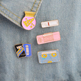 Retro Pin Set - Tumblr Pins and Patches - Peachy Pins