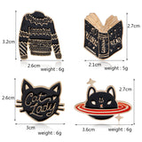 Black Sweater Pin - Tumblr Pins and Patches - Peachy Pins