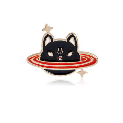 Cat Planet Pin - Tumblr Pins and Patches - Peachy Pins