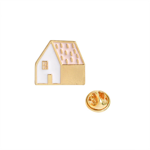 Pink House Pin - Tumblr Pins and Patches - Peachy Pins