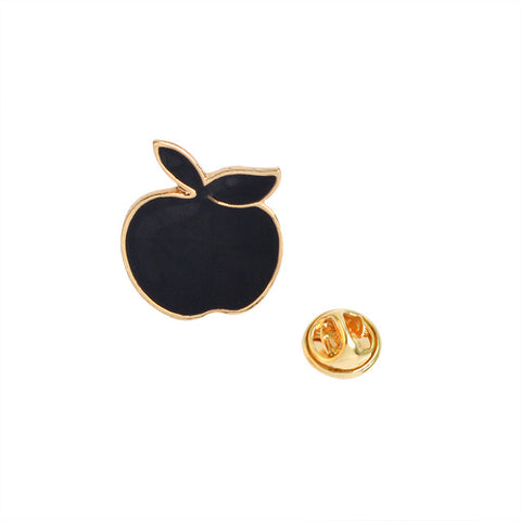 Black Apple Pin - Tumblr Pins and Patches - Peachy Pins