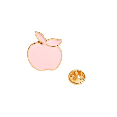 Pink Apple Pin - Tumblr Pins and Patches - Peachy Pins