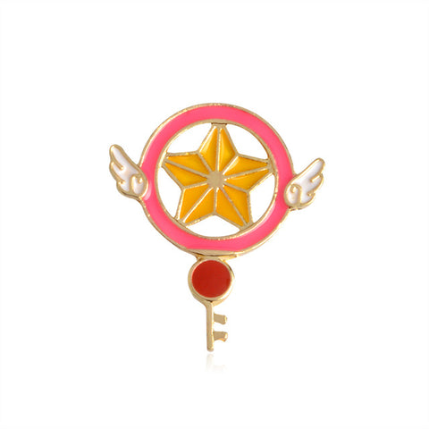 Magic Star Key Pin - Tumblr Pins and Patches - Peachy Pins
