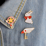 Wing Key Pin - Tumblr Pins and Patches - Peachy Pins