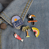 Sunny Sunset Pin - Tumblr Pins and Patches - Peachy Pins