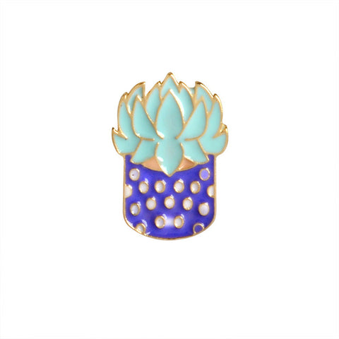 Succulent Plant Pin - Tumblr Pins and Patches - Peachy Pins