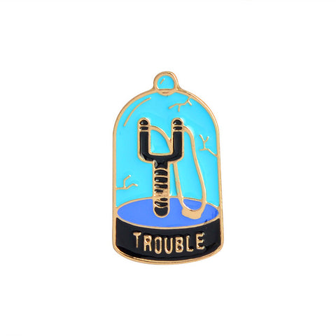 Trouble Catapult Pin - Tumblr Pins and Patches - Peachy Pins