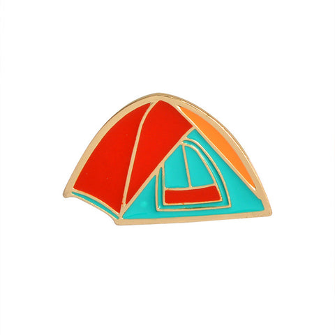 Camping Tent Pin - Tumblr Pins and Patches - Peachy Pins