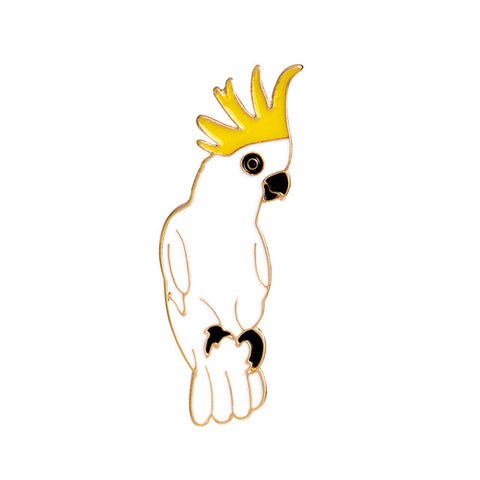 Cockatoo Pin - Tumblr Pins and Patches - Peachy Pins