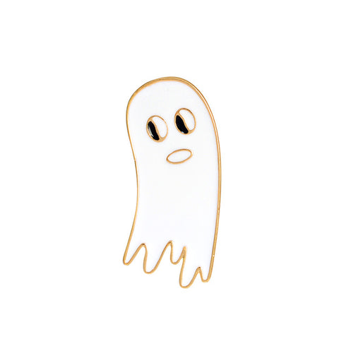 White Ghost Pin - Tumblr Pins and Patches - Peachy Pins