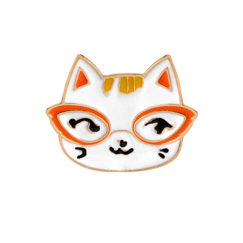 Nerd Cat Pin - Tumblr Pins and Patches - Peachy Pins