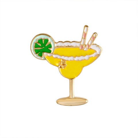 Yellow Bird Cocktail Pin - Tumblr Pins and Patches - Peachy Pins