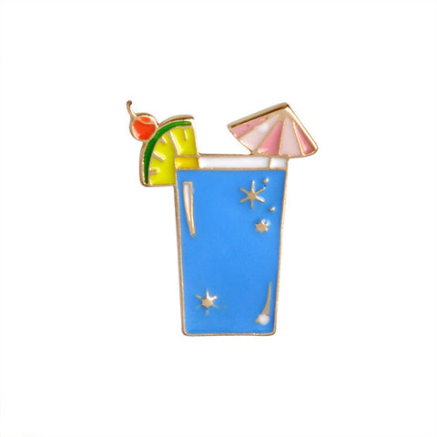 Royal Blue Cocktail Pin - Tumblr Pins and Patches - Peachy Pins