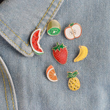Fruit Pin Set - Tumblr Pins and Patches - Peachy Pins