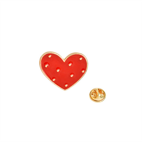 Dotted Heart Pin - Tumblr Pins and Patches - Peachy Pins