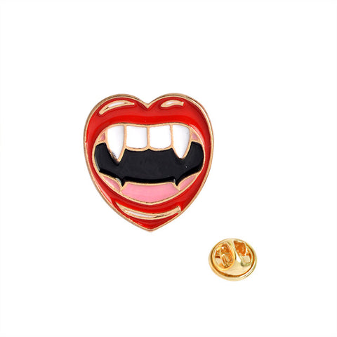 Vampire Teeth Pin - Tumblr Pins and Patches - Peachy Pins