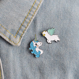 Teal Unicorn Pin - Tumblr Pins and Patches - Peachy Pins