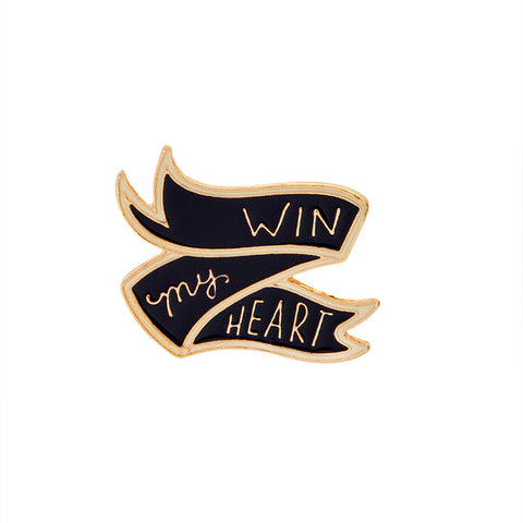Win My Heart Pin - Tumblr Pins and Patches - Peachy Pins