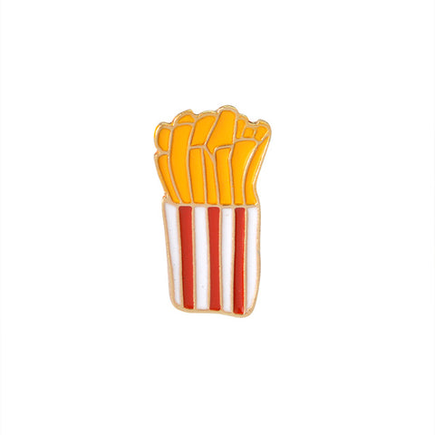 Fries Pin - Tumblr Pins and Patches - Peachy Pins