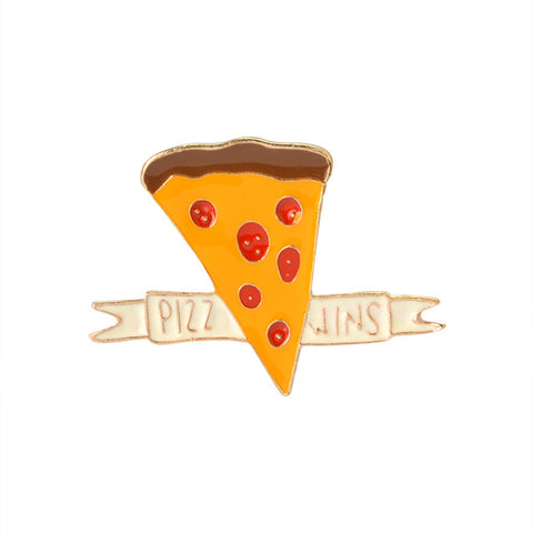 Pizza Wins Pin - Tumblr Pins and Patches - Peachy Pins