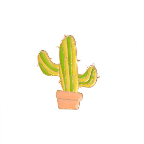 Striped Cactus Pin - Tumblr Pins and Patches - Peachy Pins