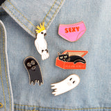 Spooky Pin Set - Tumblr Pins and Patches - Peachy Pins