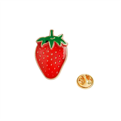 Strawberry Pin - Tumblr Pins and Patches - Peachy Pins