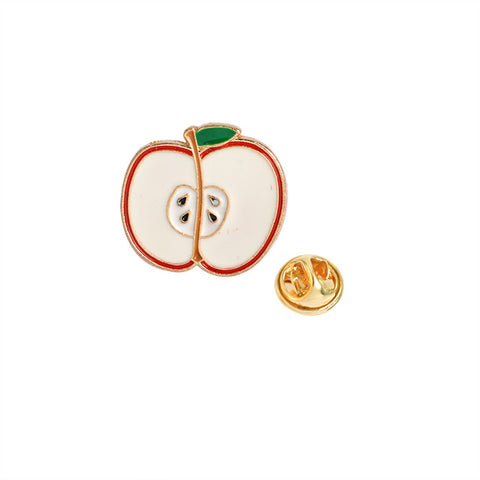Apple Pin - Tumblr Pins and Patches - Peachy Pins